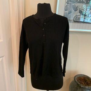 Black knit button down
